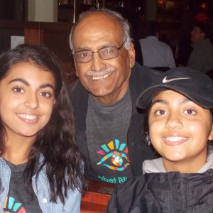 Dr. Suresh Chandra And Granddaughters At Pints For Sight