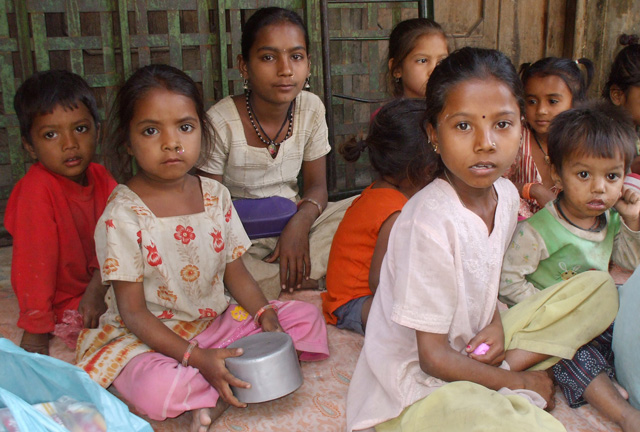 Children In Gujarat India