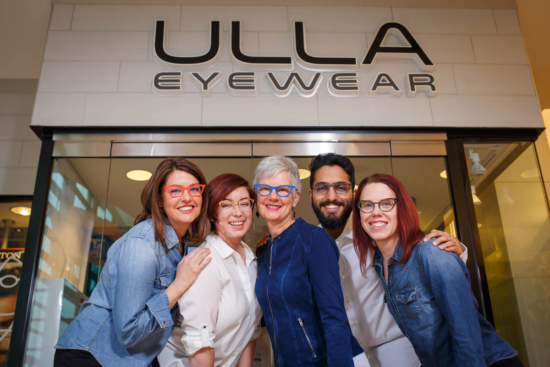 Ulla Eyewear employees outside store