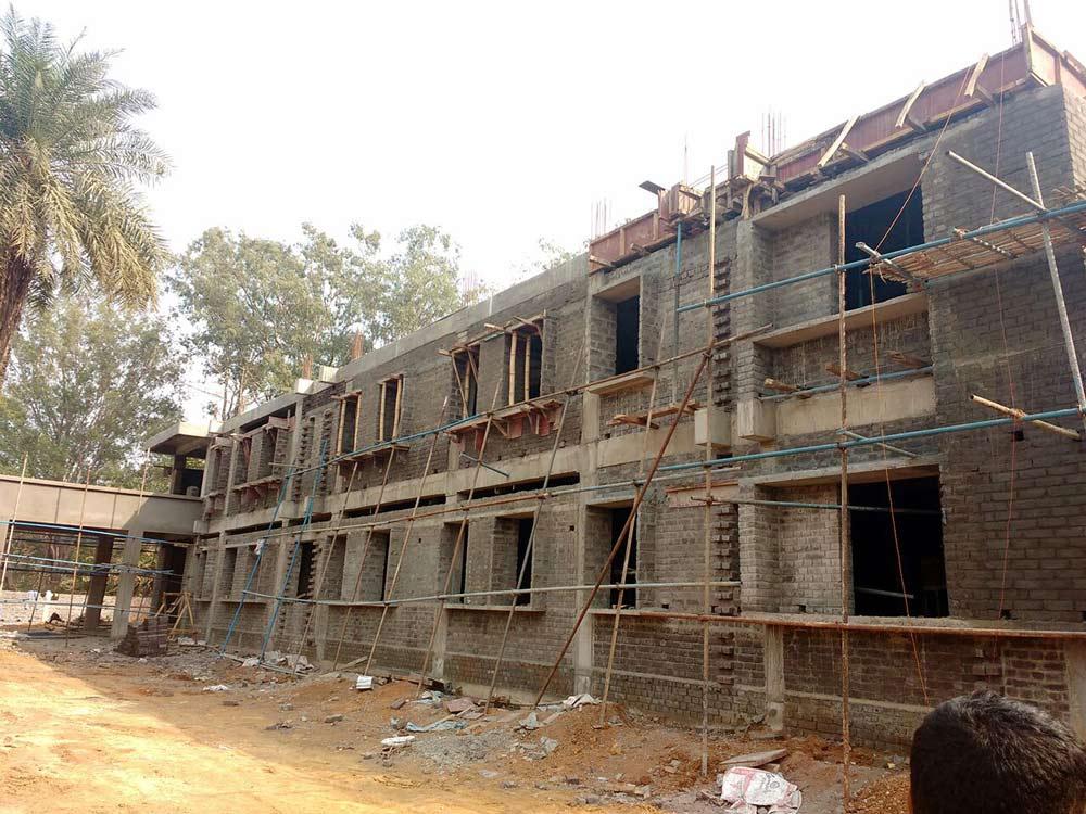 Odisha hospital during construction