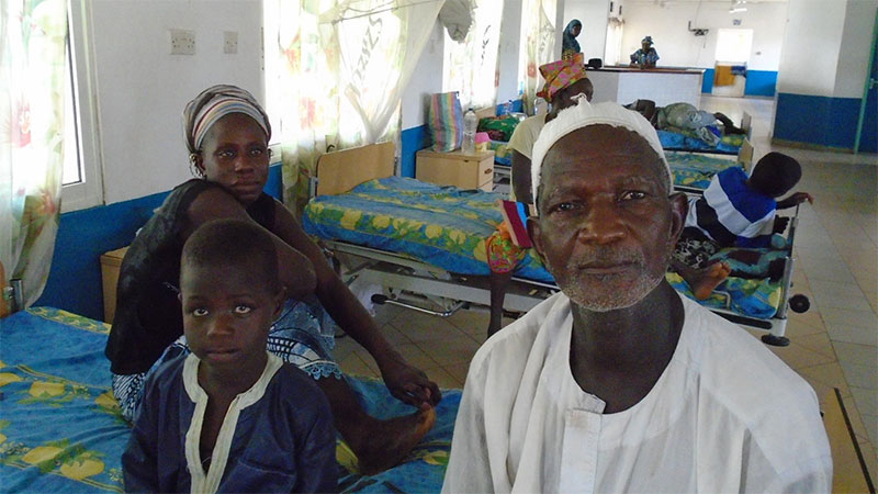 Family in Gambian Hospital recovery room