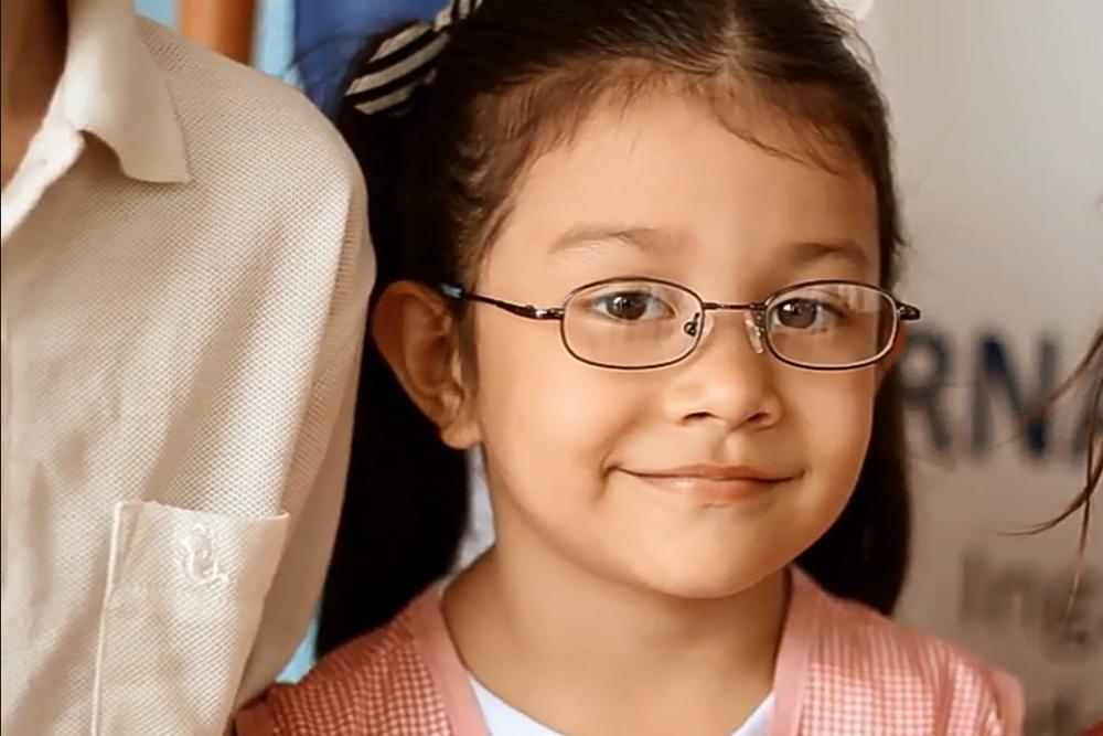 Child helped through the International Pediatric Program