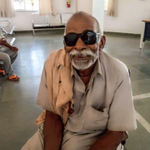 Ram Yadab Received Combat Blindness International Support