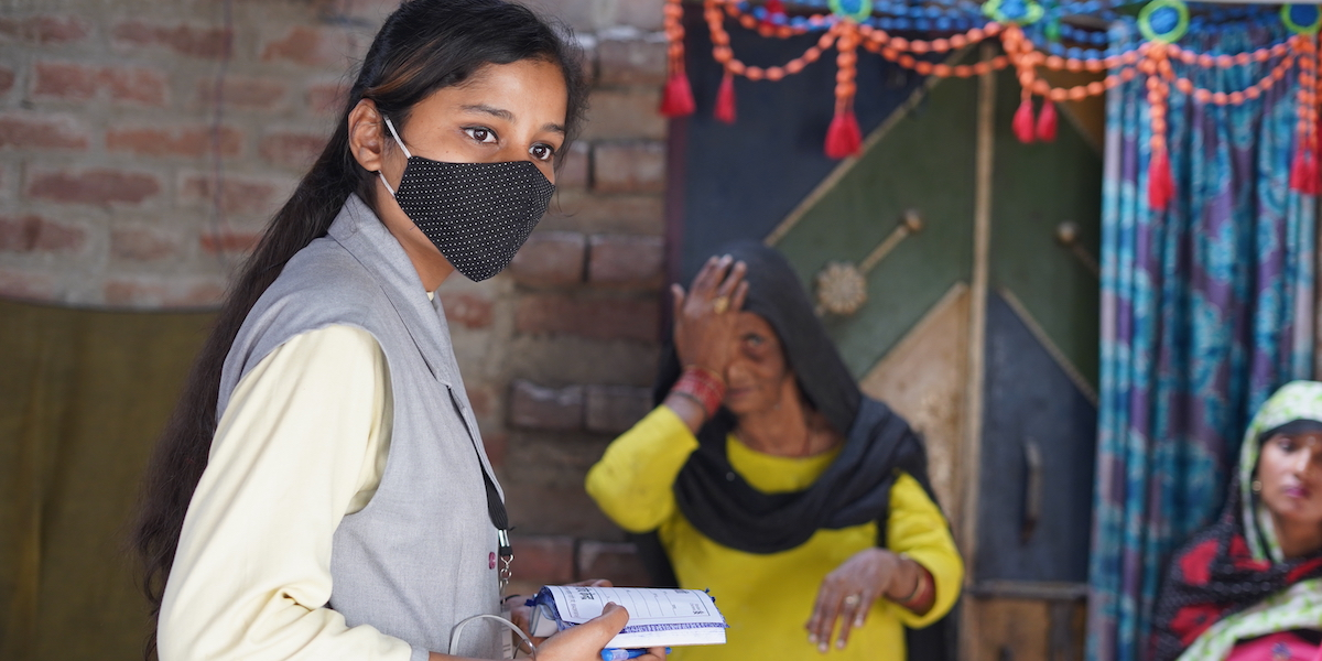 A Shakti vision screening underserved people in rural India.